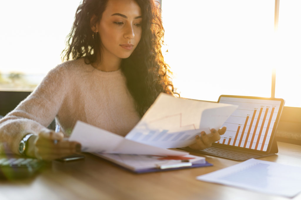 woman experiencing audit trail benefits